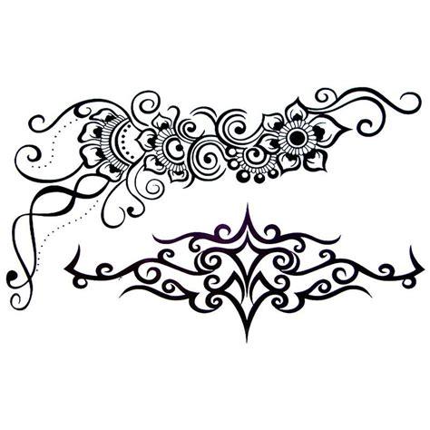 tatouage temporaire tribal  fleur