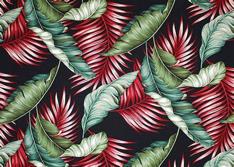 Tropical Hawaiian Banana Leaves And Palm Fronds Crochet Patterns For Curtains And Valances Extra Wide Eyelet Blackout Kitchen Windows Uk Bay Window Curtain Pole Set B Q Door Pooja Room Aperture Science Shower Hanging Pleated With Hooks Short Living