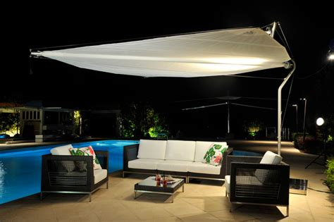 retractable shade sail contemporary patio other