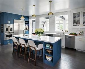 Blue, Kitchen, Ideas, Cabinets, Walls, And, Counters