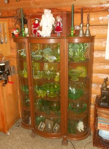 vintage curved glass china curio cabinet collectors weekly