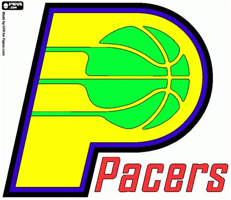 indiana pacers colors indiana pacers free colouring pages