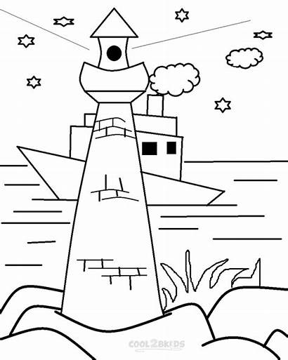 Lighthouse Coloring Pages Printable Lighthouses Realistic Children