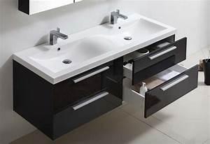 meuble salle de bain twin 144 collection meuble design With porte de douche coulissante avec meuble salle de bain double vasque 120 cm