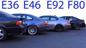 Bmw E46 Motoröl : bmw m3 e30 vs m3 e36 vs m3 e46 vs m3 e92 vs m3 f80 soun ~ Jslefanu.com Haus und Dekorationen