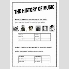 The History Of Music Worksheet  Free Esl Printable Worksheets Made By Teachers