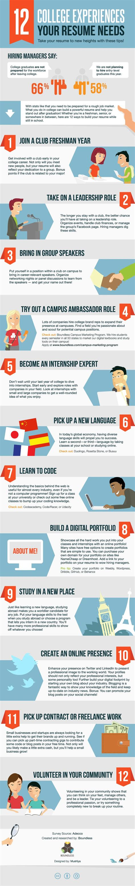 infographic working on your resume check this out 12