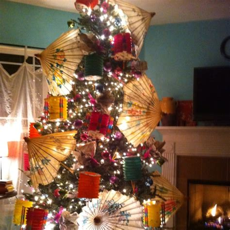 17 best images about asian themed christmas trees on pinterest origami cranes paper fans and