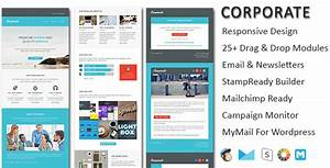 corporate responsive email newsletter templates by With mymail newsletter templates