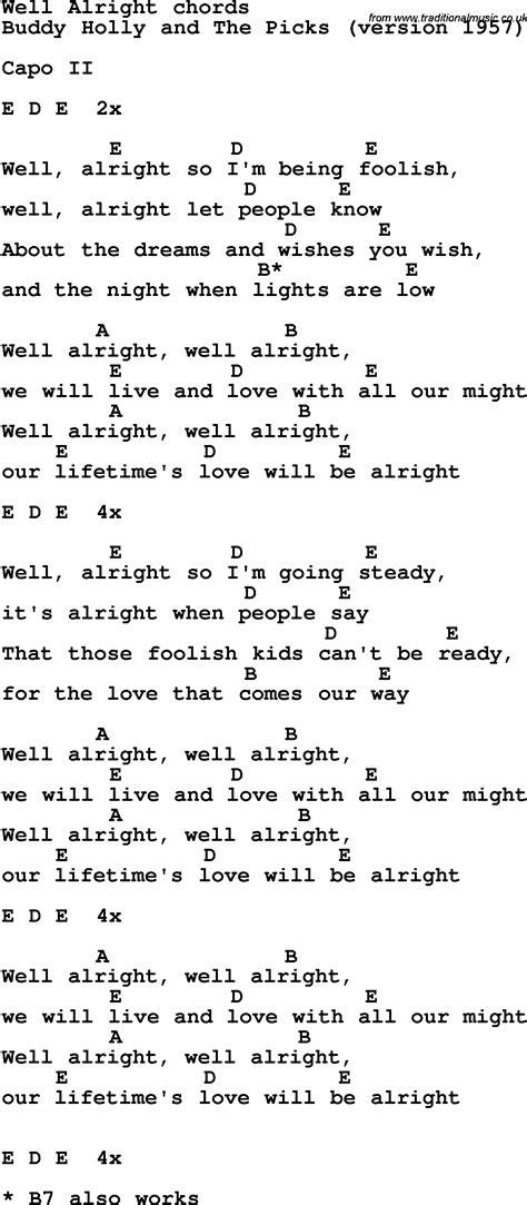 song lyrics  guitar chords   alright