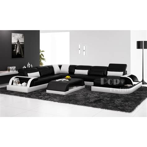 canape de luxe en cuir canapé d 39 angle panoramique design en cuir véritable bolzano xl
