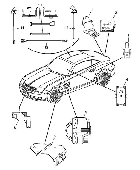 Chrysler Alarm Wiring Diagram by 5102558aa Genuine Chrysler Module Alarm