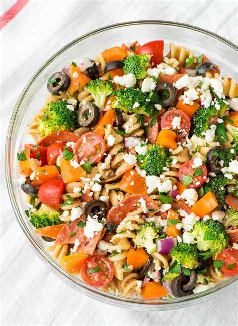 healthy pasta salad healthy pepperoni pasta salad