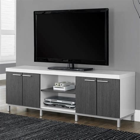 white tv stand with storage modern tv stand media console living room white gray 2 1880