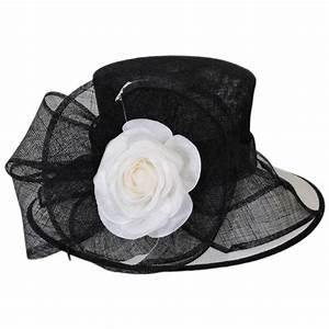 Scala Ivory Rose Downbrim Hat Dress Hats