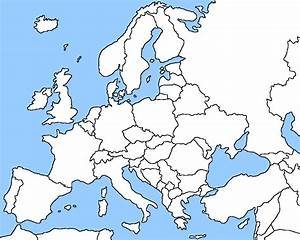 Blank Map Of Europe Shows The Political Boundaries Of The