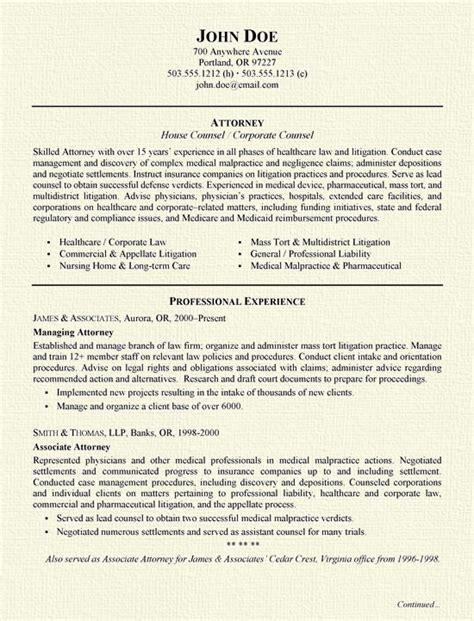Insurance Defense Attorney Resume Samplebusinessresume