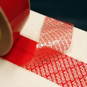 TAMPERSAFE Tamper Proof / Evident Security Parcel Tape Red ...