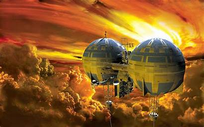 Venus Floating Atmosphere Colonization Impression Planet Colony