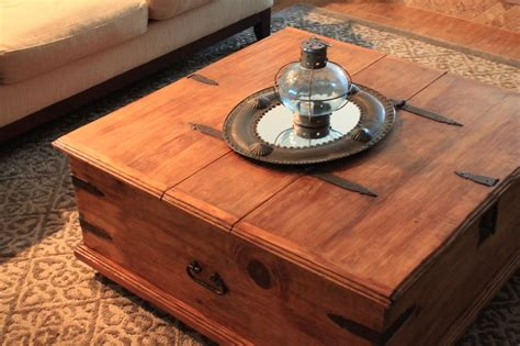 Refinished Rustic Storage Trunk Coffee Table; Garage Sale Korean Iced Coffee Recipe Personalized Mugs Under  Promotional Made In Usa Smitten Kitchen For Large Group Sinhala Cup Of Frame Using Espresso