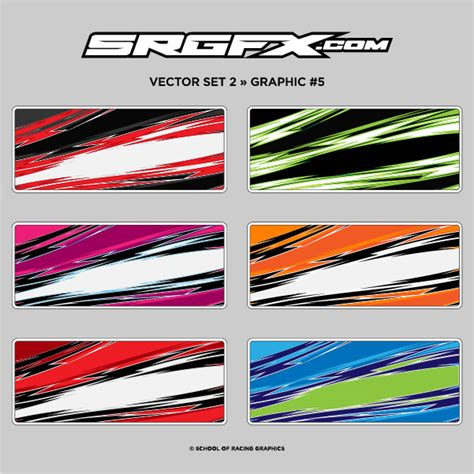 race car graphics design templates vector pack 2 school of racing graphics