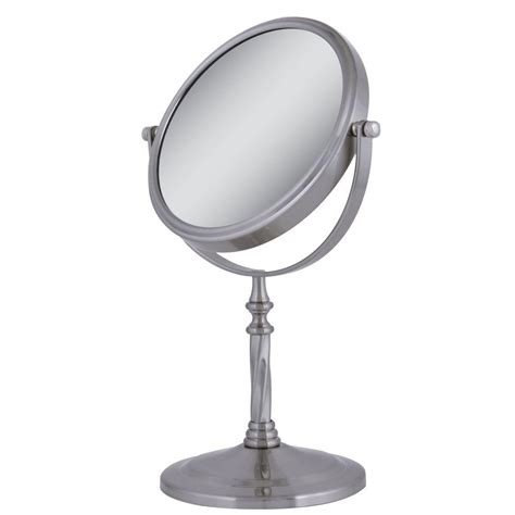 satin nickel mirror zadro dual sided swivel vanity mirror in satin nickel 2104