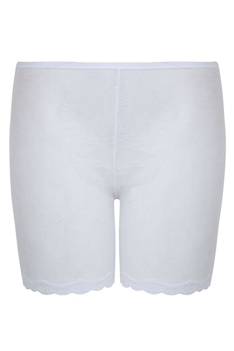 White Lace Mesh Thigh Smoother Plus Size