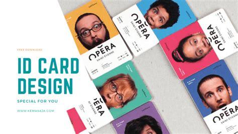 template desain id card terbaik membuat desain id card