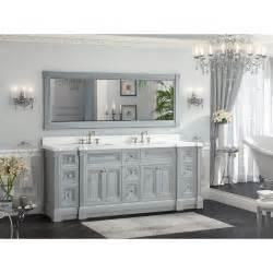 30 Inch Bathroom Vanity by 84 Inch Gray Finish Double Sink Bathroom Vanity Cabinet