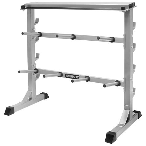 mirafit kg gym weight plate bar rack storage standholder dumbbellbarbell ebay