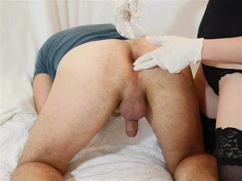Most Unbelievable Prostate Milking Prostate Milking With Gloved Fingering