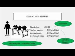 Break Even Berechnen : nutzschwellen berechnen break even youtube ~ Themetempest.com Abrechnung