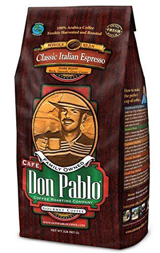 Specialty coffee growers and roasters. Cafe Don Pablo Gourmet Coffee - Classic Italian Espresso - Dark Roast - Whole Bean Coffee - 2 ...