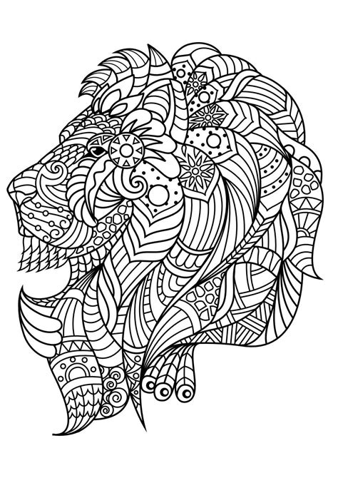 animal coloring pages  coloring animals lion