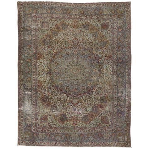distressed area rug distressed antique kerman area rug at 1stdibs