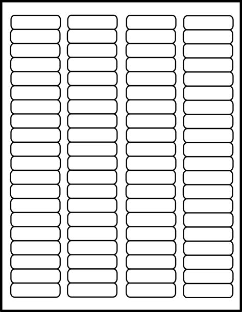 Labels By The Sheet Templates by Avery Return Address Labels 80 Per Sheet Template Avery