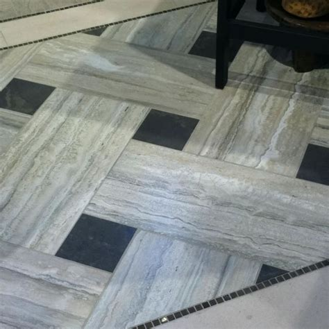 18x18 tile patterns version of this with commerical vinyl tile instead of long narrow tiles two of lighter color