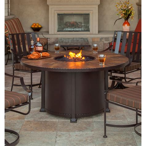 Dining Table Patio Dining Table With Fire Pit