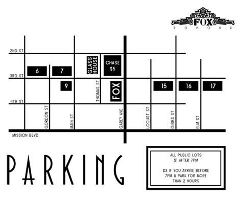 fox theater parking garage directions parking fox theater pomona