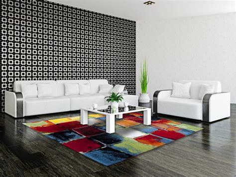 tapis moderne  multicolore de salon bahia