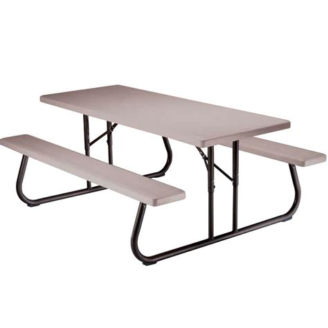 6 folding picnic table folding picnic table 6 foot putty lifetime 22119