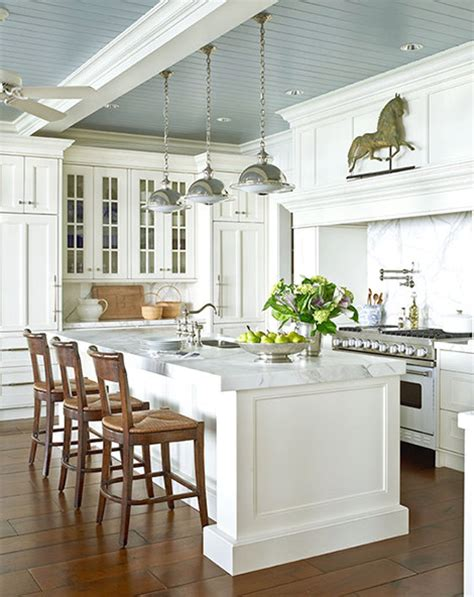 white and grey traditional kitchen white kitchen with blue gray ceiling traditional kitchen White And Grey Traditional Kitchen
