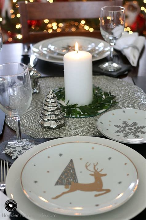 simple holiday table setting hoosier homemade