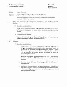 Sample Letter Sick Leave 13 Leave Policy Templates Free Pdf Word Format