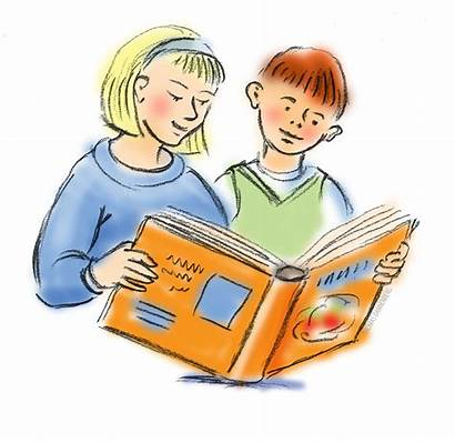 Reading Books Children Clipart Library Writing Students