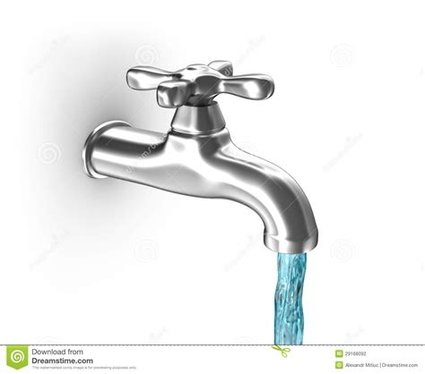 Leaking Sink Drain Pipe by Water Tap With Running Water Stock Illustration Image