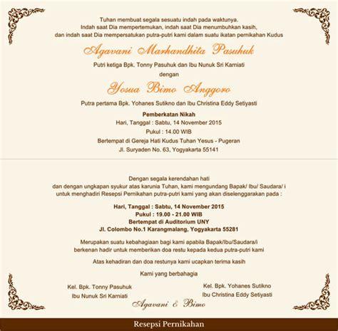 Penulisan Surat Undangan Yang Tepat by Model Undangan Pernikahan Isi 23 Guna Ide Perencanaan