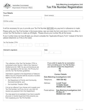 ato tfn application form tax file number online form fill online printable