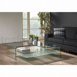 Table Basse Design Verre : tables basses tables et chaises wave table basse verre transparent design inside75 ~ Teatrodelosmanantiales.com Idées de Décoration