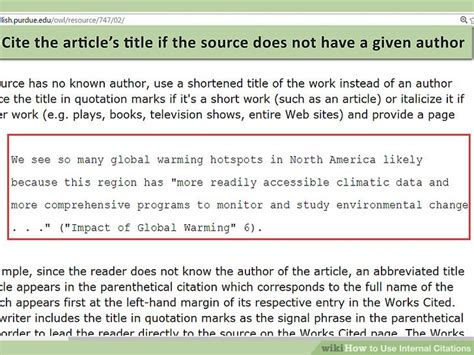How To Use Internal Citations (with Pictures) Wikihow